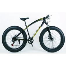 26' Classic Fat Tyre Bike - 21 Speed (BLACK)