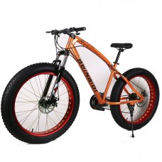 26' Classic Fat Tyre Bike - 21 Speed ORANGE