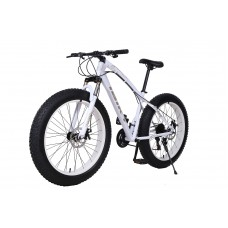 26 Inch 7 Speed Classic Fat Tyre Bike (WHITE)