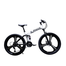 26 Inch 21-Speed Alloy Mountain Foldable Bike (White)