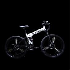26 Inch 21-Speed Alloy Mountain Foldable Bike (White)
