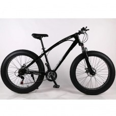 21 Speed 26' ELEGANT Fat Tyre Bike - (BLACK)