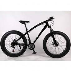21 Speed 26' ELEGANT Fat Tyre Bike - (BLACK)